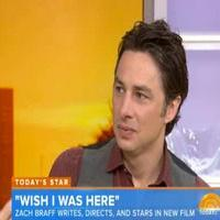 VIDEO: Zach Braff Talks New Film, Reveals Musical Theater-Themed Bar Mitzvah on TODAY