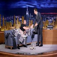 VIDEO: Hugh Jackman Crashes Jimmy Fallon's Monologue on TONIGHT SHOW