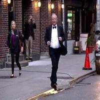 VIDEO: Bill Murray Interrupts LETTERMAN Appearance to Train for NY Marathon!
