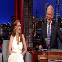 VIDEO: David Letterman Surprises Jessica Chastain with Rare INTERSTELLAR Clip on 'Late Show'