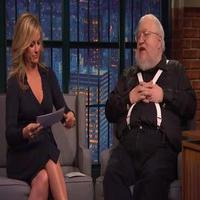 VIDEO: George R.R. Martin & Amy Poehler Play 'Game of Thrones' Trivia on LATE NIGHT