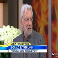 VIDEO: Donald Sutherland Talks Reprising HUNGER GAMES Role on GMA