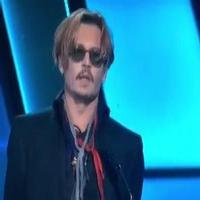 VIDEO: Johnny Depp Curses on Stage at the Hollywood Film Awards