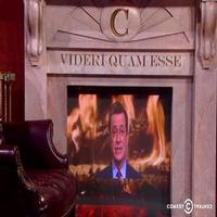 VIDEO: Stephen Colbert to Raffle Off COLBERT REPORT Desk & Fireplace for Charity
