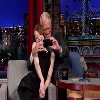 VIDEO: CABARET's Emma Stone & David Letterman Can't Stop Taking Selfies!
