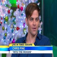 VIDEO: INTO THE WOODS' Chris Pine Talks Playing Cinderella's Prince & More on GMA