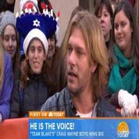 VIDEO: Craig Wayne Boyd Talks Winning THE VOICE on 'Today'