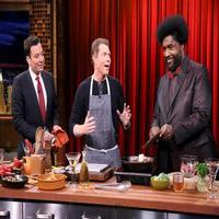 VIDEO: Bobby Flay Cooks with Jimmy & Questlove on TONIGHT SHOW