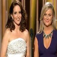 VIDEO: Tina Fey and Amy Poehler Jab at THE INTERVIEW, Bill Cosby, and More in Golden Globes Opener
