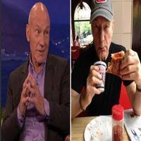 VIDEO: Patrick Stewart Debunks Pizza-Eating Rumors on CONAN!