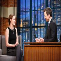 VIDEO: Kristen Stewart Talks New Film 'Still Alice' on LATE NIGHT