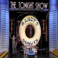 VIDEO: Jimmy Fallon Jumps Through LA Landmark Randy's Donut on TONIGHT