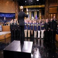 VIDEO: 50 Naval Recruits Take Oath of Enlistment on TONIGHT SHOW