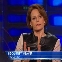 VIDEO: Sigourney Weaver Talks New Film 'Chappie' on DAILY SHOW
