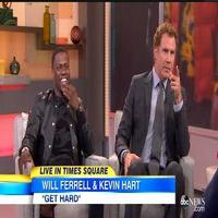 VIDEO: Kevin Hart, Will Ferrell Talk New Buddy-Comedy GET HARD on GMA