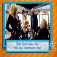 VIDEO: Country Music Star Dolly Parton Makes Little Boy's Wish Come True