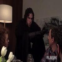 VIDEO: Seth Meyers Brings GAME OF THRONES Jon Snow to a Dinner Party!