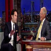 VIDEO: Paul Rudd Reveals He Was a Member of the 'David Letterman Fan Club'