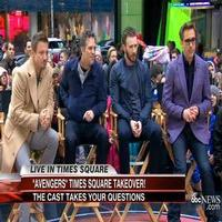 VIDEO: THE AVENGERS Stars Robert Downey Jr., Chris Evans, Mark Ruffalo, and Jeremy Renner Answer Fan Questions on GMA