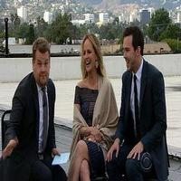 VIDEO: Helen Hunt and Nicholas Hoult Chat On the Rooftop on JAMES CORDEN