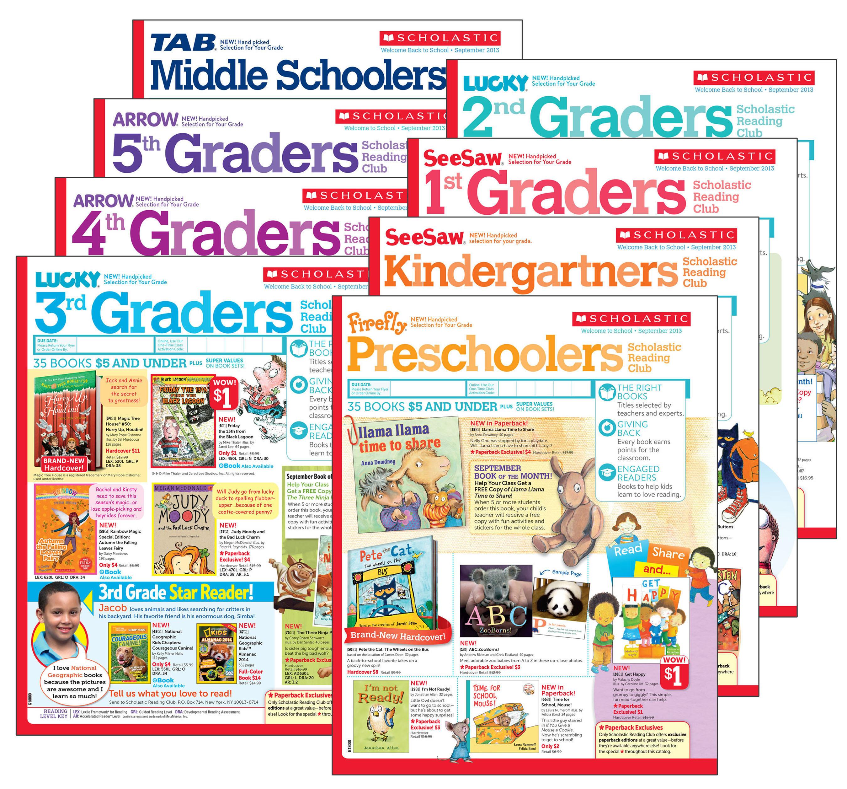 Scholastic announces major redesign of school book club flyers