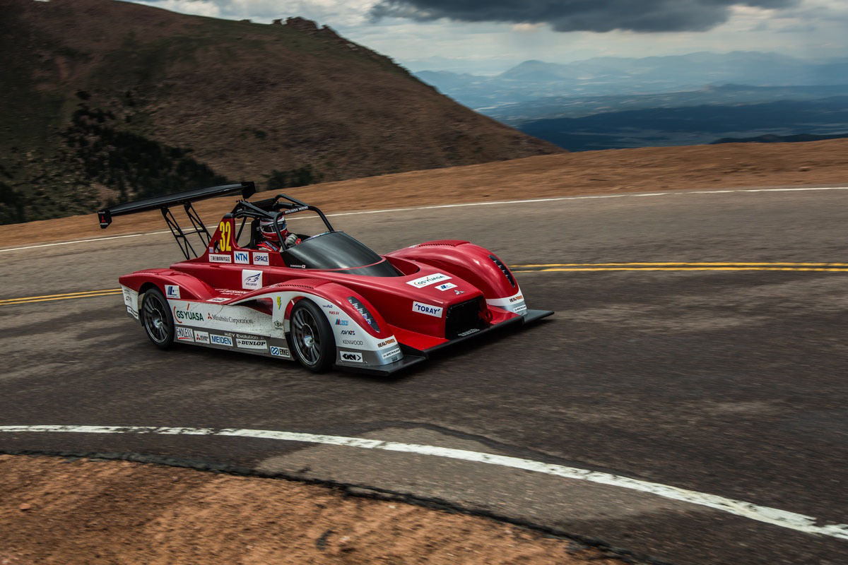 Mitsubishi Motors' MiEV Evolution II Finishes 2nd and 3rd at the 2013 Pikes Peak International Hill Climb