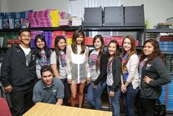 Naya Rivera 'Gets Schooled' in South Los Angeles