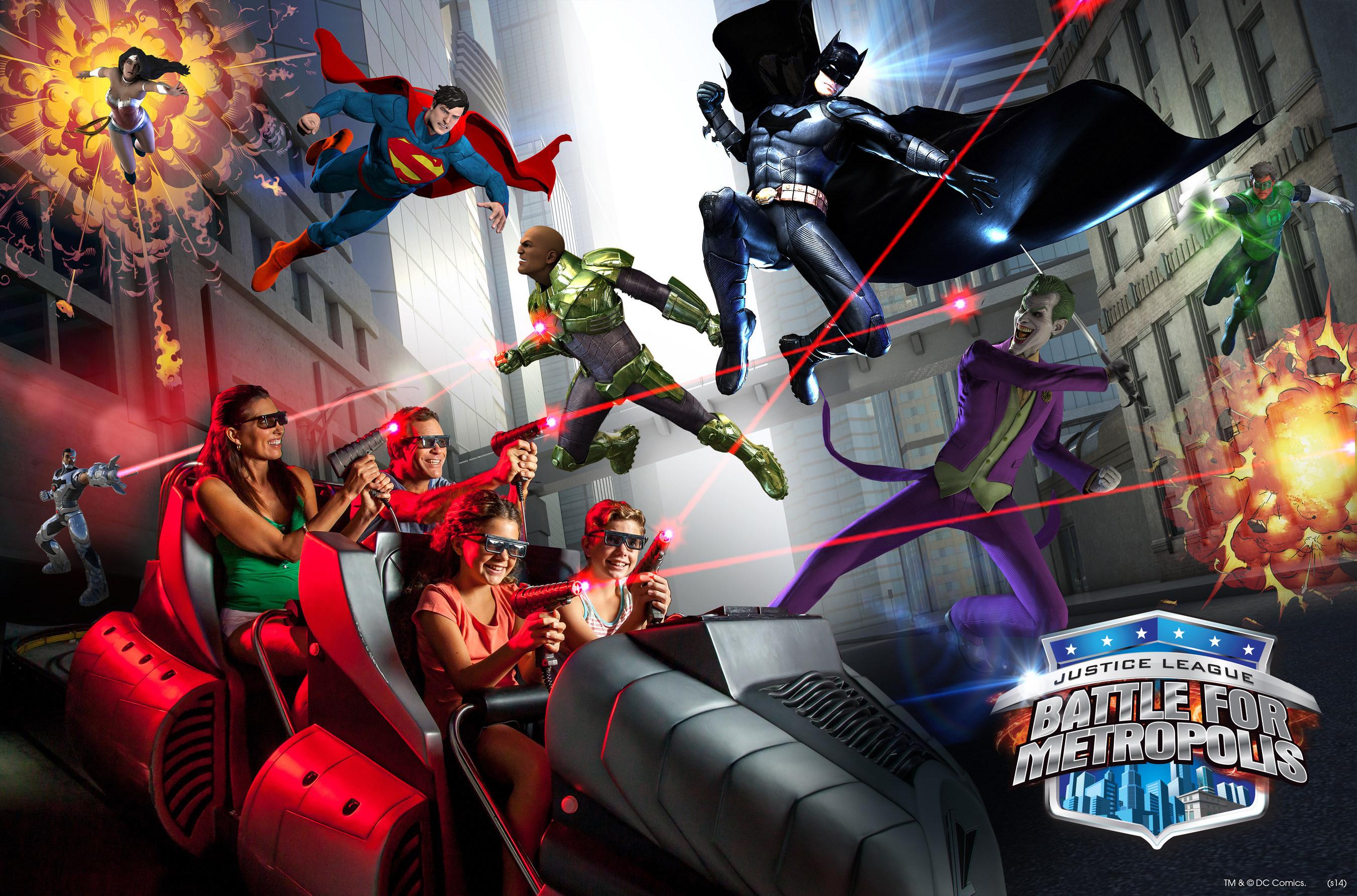 Six Flags Introduces JUSTICE LEAGUE: BATTLE FOR METROPOLIS