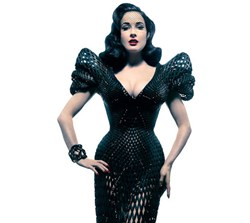 Dita von Teese's 3-D Dress on Display at FIDM's Innovative Materials Conference and Exhibition