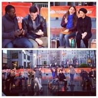 Sutton Foster Tweets Backstage from TODAY Show Performance