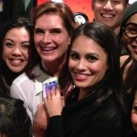 Photo Flash: Brooke Shields Visits HERE LIES LOVE