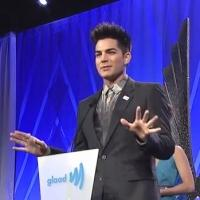 VIDEO: Mel B Presents Adam Lambert With Davidson/Valentini Award at 2013 Glaad Awards