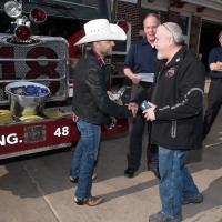 Country Star Justin Moore Surprises Hershey Fire Station with Free Concert Tickets