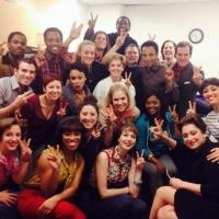 Photo Flash: Saturday Intermission Pics - Dec. 21 - Part 2 - Cast of Broadway's BEAUTIFUL Sends Well Wishes to Valisia LeKae; Plus CINDERELLA & More!