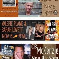 This November at Bookworks Includes Valerie Plame, Poetry, Winner of the Tony Hillerman Award and More