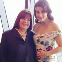 Photo Flash: Food Network's Ina Garten Poses with Idina Menzel at Hearst Event