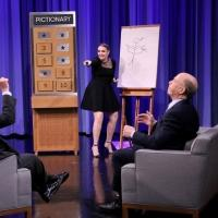 VIDEO: Lena Dunham & JK Simmons Compete in Pictionary on TONIGHT