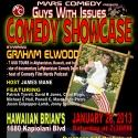 Mars Comedy's GUYS WITH ISSUES COMEDY SHOWCASE Benefits Wounded Warrior Project Tonight