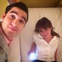 Lea Michele & Darren Criss Post New Photos On Set Of GLEE S6 & Find Time For A Nap