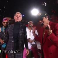 VIDEO: ELLEN Joins Bruno Mars on 'Uptown Funk' Performance
