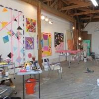 Sarah Cain's BURNING BUSH on Display 2/7-3/15 at Galerie Lelong