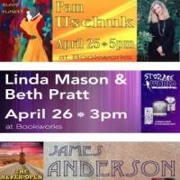 This Week at Bookworks Features Pam Uschuk, Linda Mason & Beth Pratt, and More!