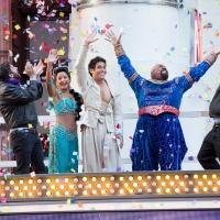 Photo Flash: Happy New Year! ALADDIN Cast Preps for 2015 in Times Square