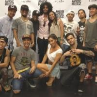 Photo Flash: Comedian Anjelah Johnson Visits Jabbawockeez in Las Vegas