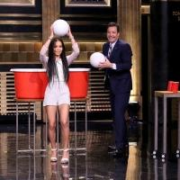 VIDEO: 'Insurgent' Star Zoe Kravitz Plays Giant Beer Pong on TONIGHT SHOW
