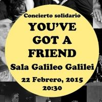 'You�ve got a friend', concierto solidario en la Sala Galileo Galilei