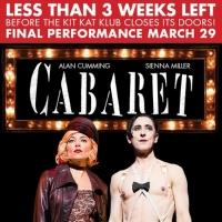 Less Than Two Weeks Left to See CABARET, Save Over 25% on Tickets