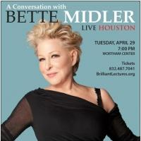 BWW Previews: The Brilliant Lecture Series Presents 'A Conversation with Bette Midler'