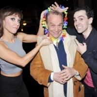 Photo Flash: Joel Grey Gets Lei'd Backstage at HONEYMOON IN VEGAS on Broadway!
