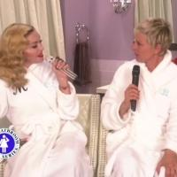 VIDEO: Madonna & ELLEN Perform 'Dress You Up' for Bathroom Concert Series
